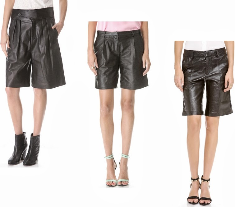 Leather culottes Rag & Bone Tibi Rachel Zoe