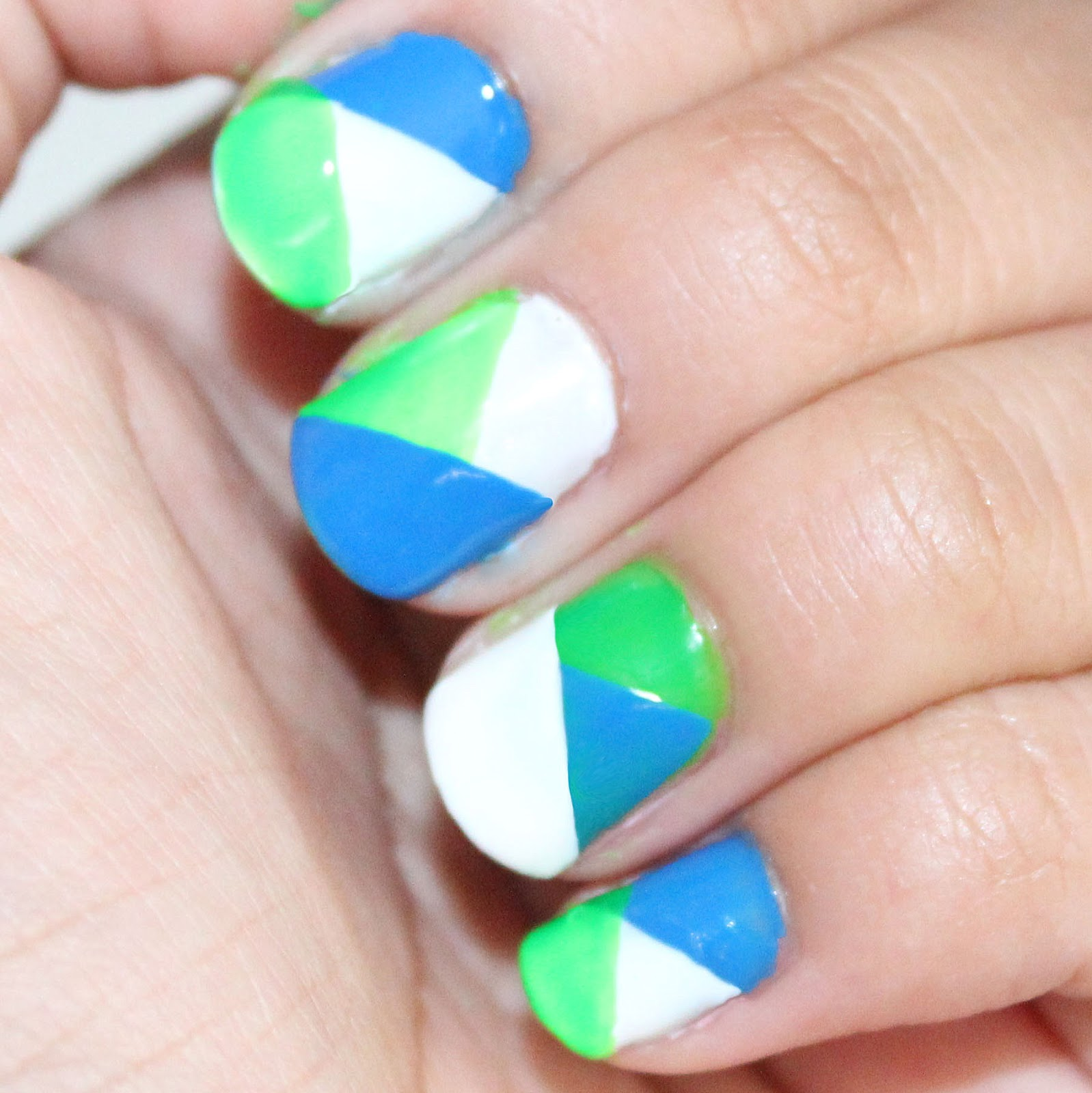 Color Block Nails Tutorial Vanessa Jhoy Blog