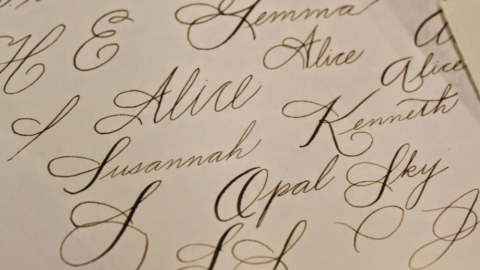 Circle And Stone Spencerian Script