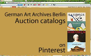 German Art Archives Auction Catalogs