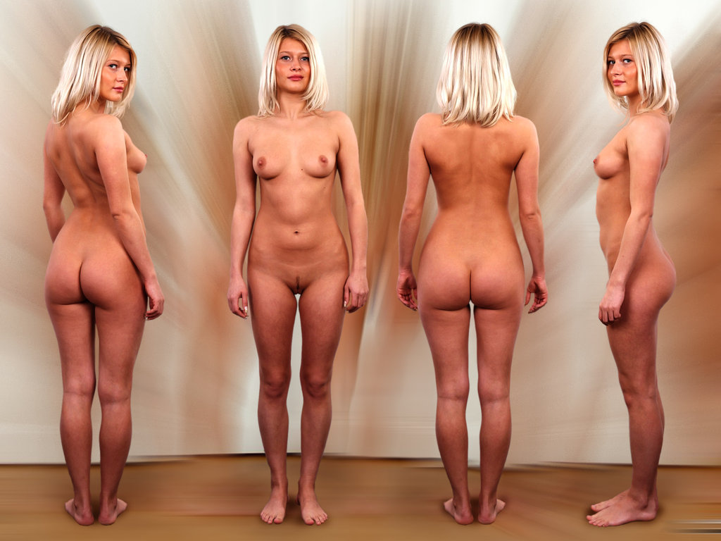Nude posture undressing