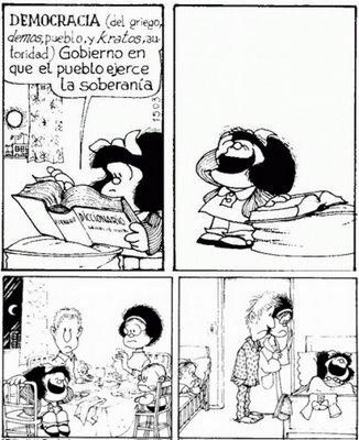 La democracia vista por Mafalda