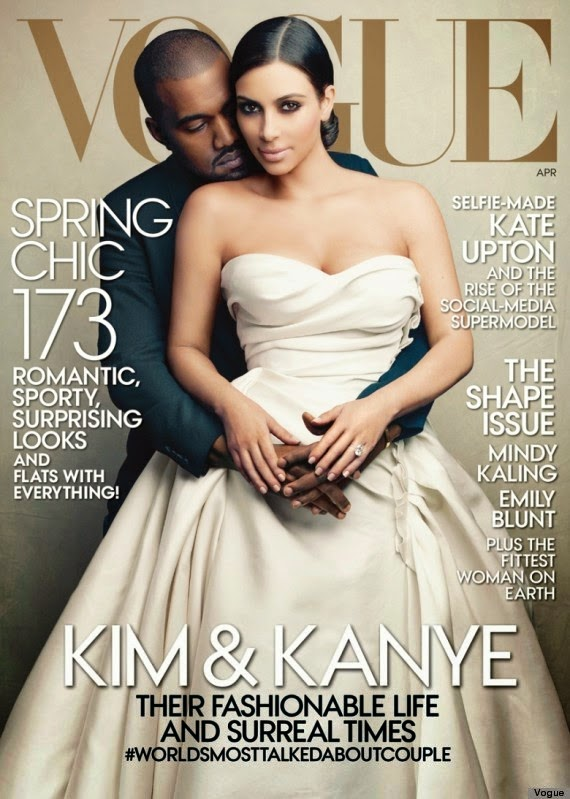 Kim Kardashian And Kanye West Is best-selling Vogue Cover