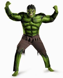 The Avengers Hulk Muscle Adult Costume