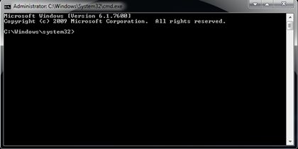 membuka program command prompt