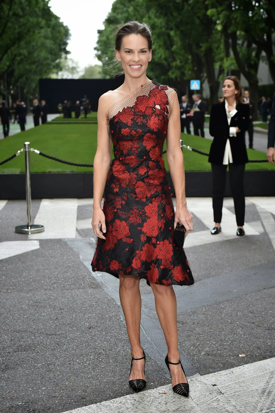 Actress, Producer @ Hilary Swank attends the Giorgio Armani 40th Anniversary Silos