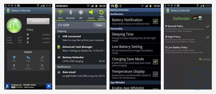 Aplikasi Battery Defender