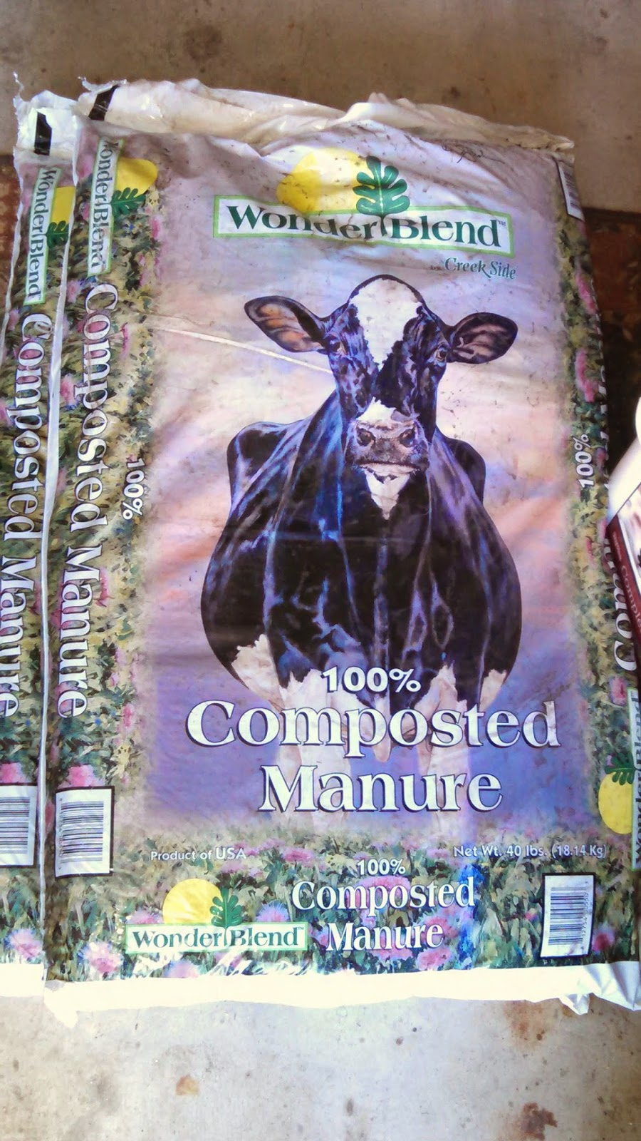 Composted Cow Manure- $7 for 40 Pounds