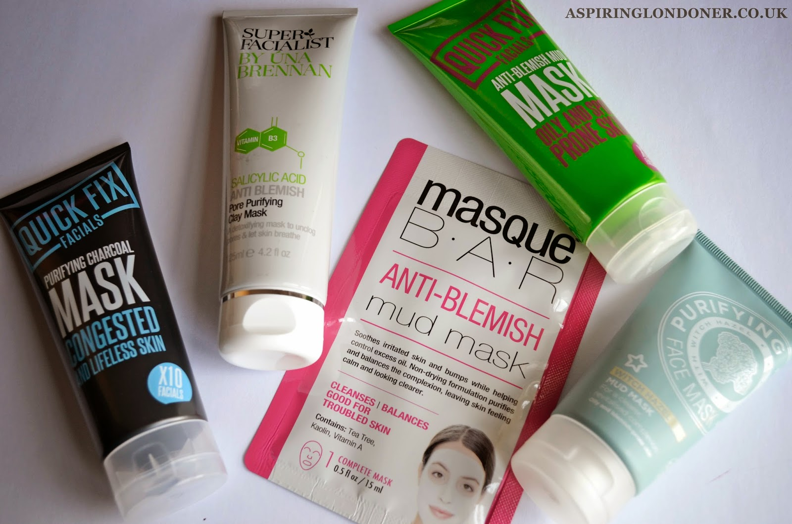 Face Masks For Oily Acne Prone Skin ft Quick Fix, Superfacialist, Superdrug, Masque Bar - Aspiring Londoner