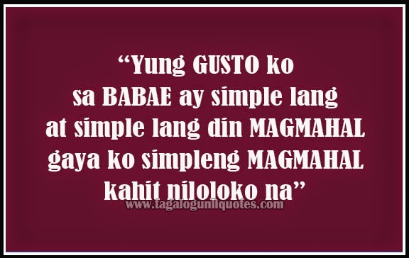 Tagalog Sweet Love Quotes - Simple Girl