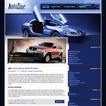 AutoZine Blogger Template. free automotive blogger template