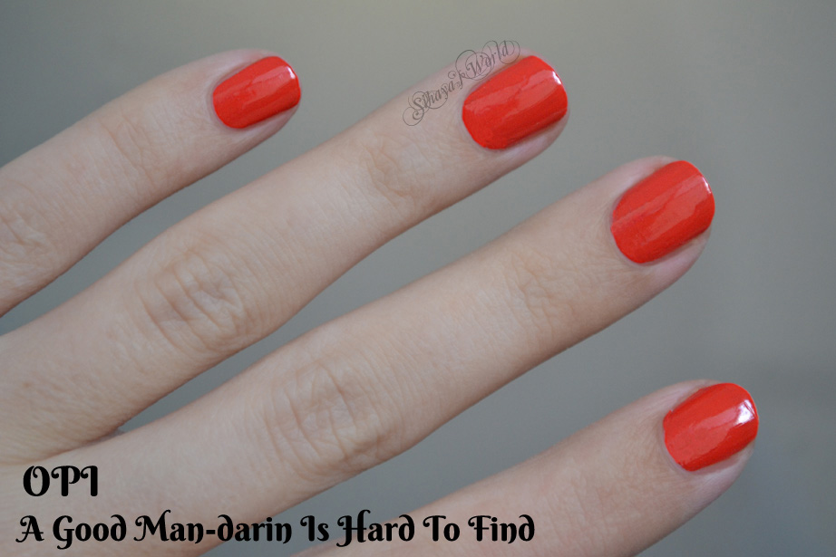 Opi A Good Mandarin Is Hard To Find Vs Hot And Spicy OPI Hong Kong swatches...