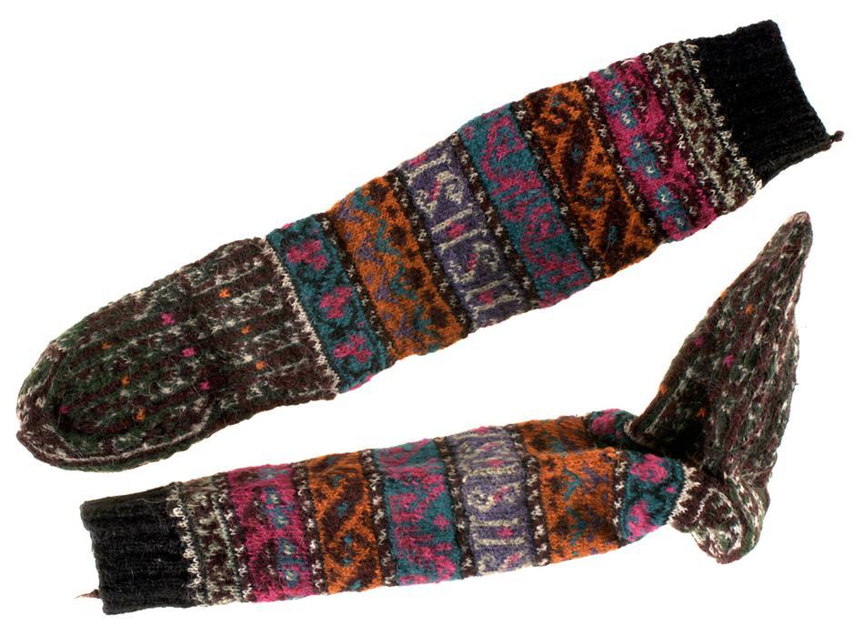 Grey Fox: Historical Fair Isle socks - inspiration in vintage hosiery