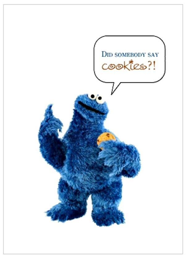 Baby Cookie Monster Invitations for awesome invitation template