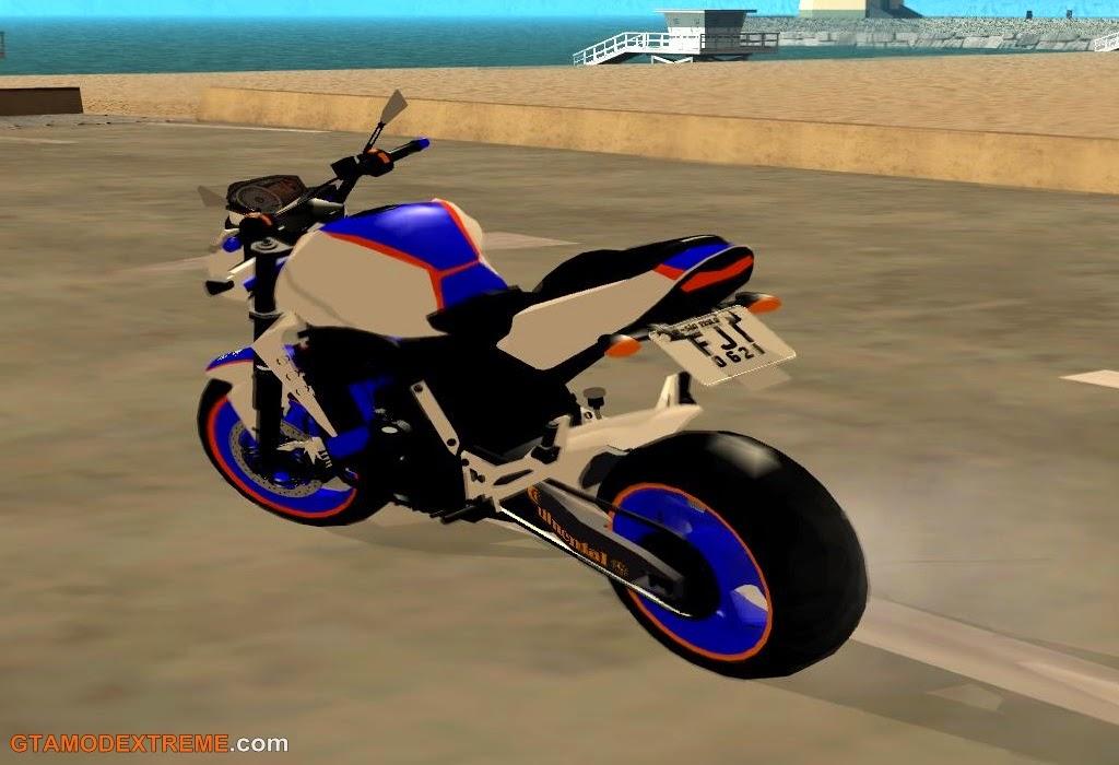 baixar moto Kawasaki Z750 Amélia Rodrigo90 Para GTA San Andreas