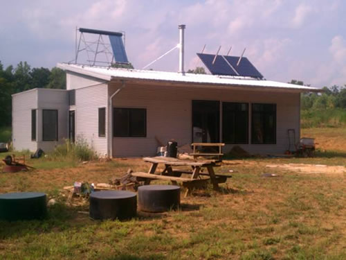 Passive solar prefab sip home visited by handsome husband for Energy efficient kit homes