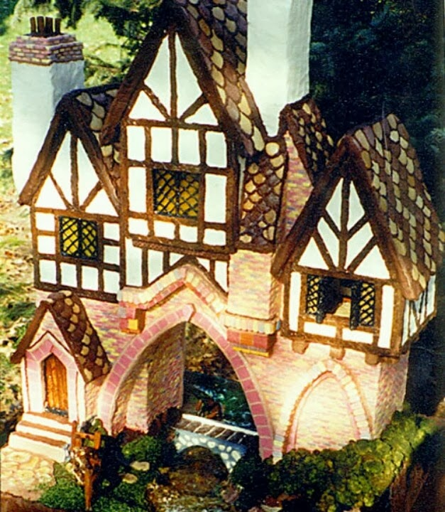 Tudor Style Gingerbread art House