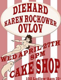 Karen Rockower Plays Cake Shop on Wednesday, April 27th