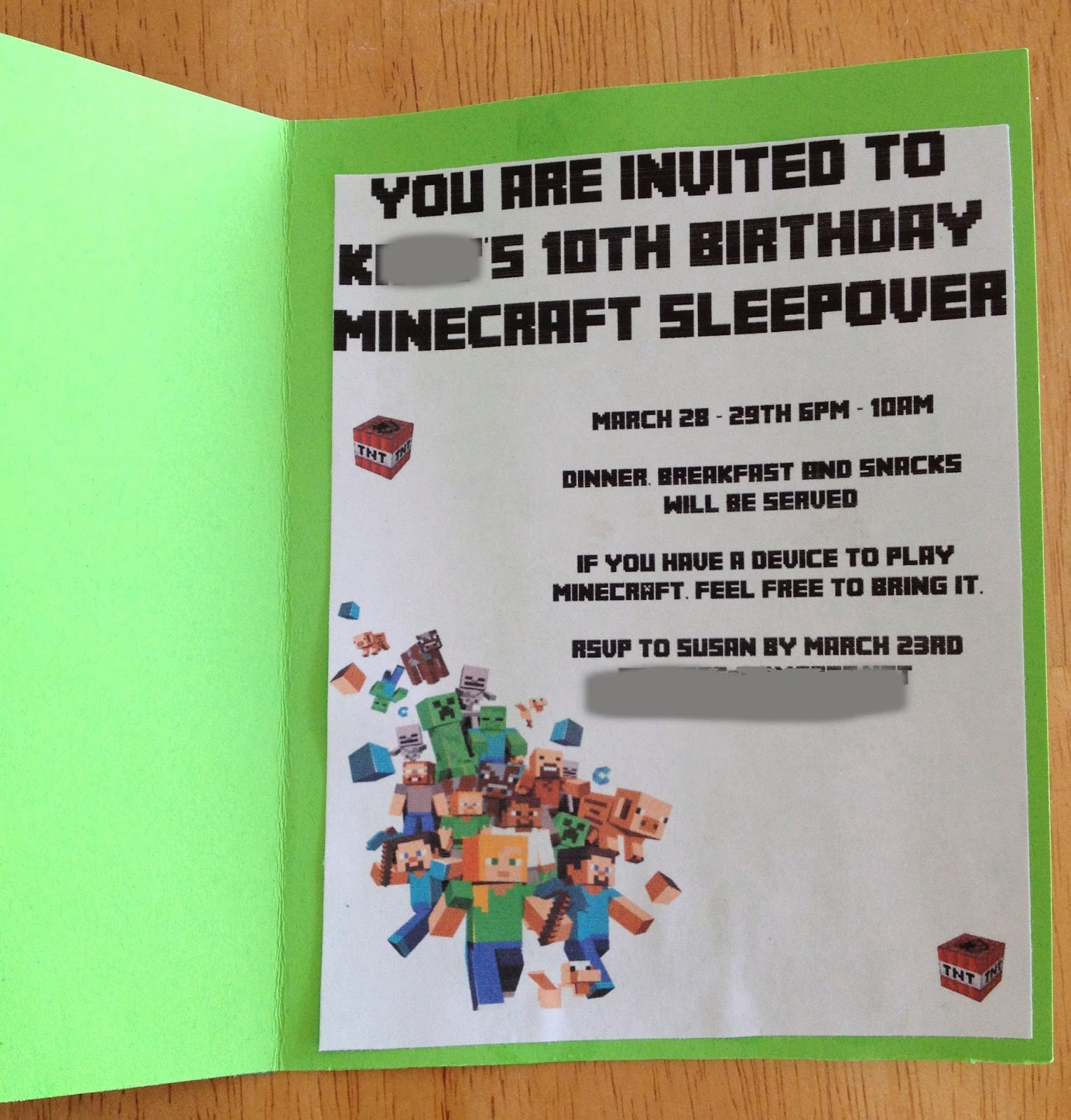 And Chaos Ensued Minecraft Birthday Party