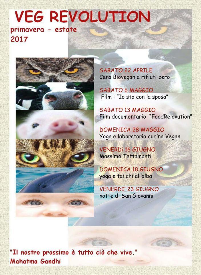 VEG REVOLUTION  primavera/estate 2017 - programma