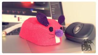 Computer Felt Mouse Cover Bubs B4Astudios