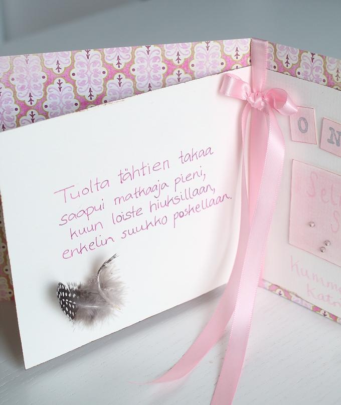 kastekortti kastejuhla kortti vauvalle askartelu diy-kortti onnittelukortti, runo ristiäiset