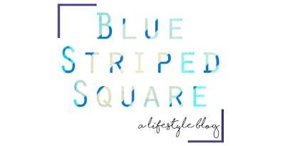 Blue Striped Square