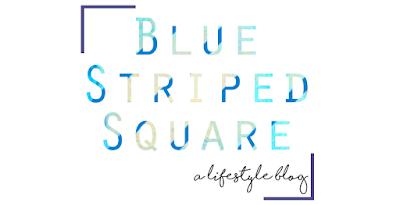 Blue Striped Square