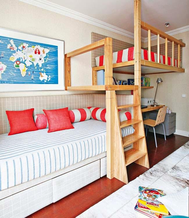 Camer Copii Cu Pat Supraetajat Jurnal De Design Interior