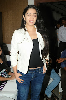 Actress Charmi Kaur Pictures in Jeans at One by Two Movie Celetes 20 Years Event 0115