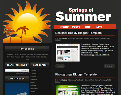 Springs of Summer Blogger Theme