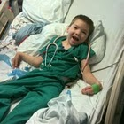 Jacob in hospital bed