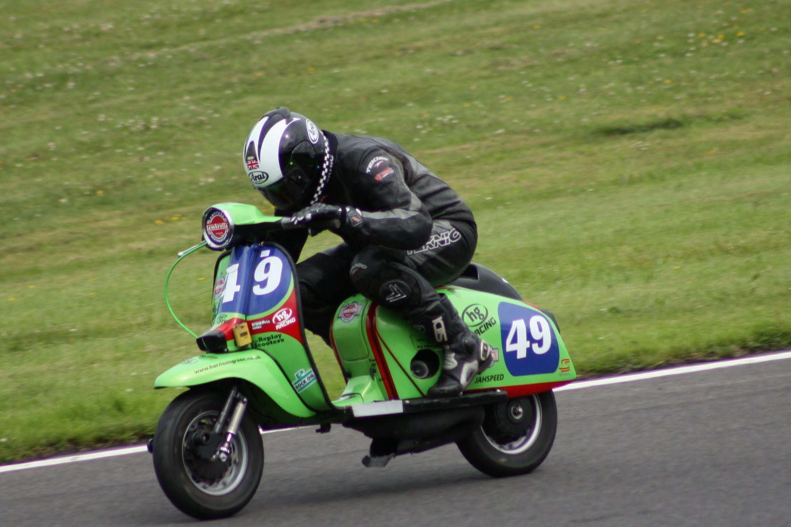 Paul Green Hg Racing Lambretta Group 4 Cadwell Park