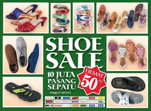 Promo Matahari Terbaru Aneka Sepatu Hemat Hingga 50%s.d. 31 Juli 2013