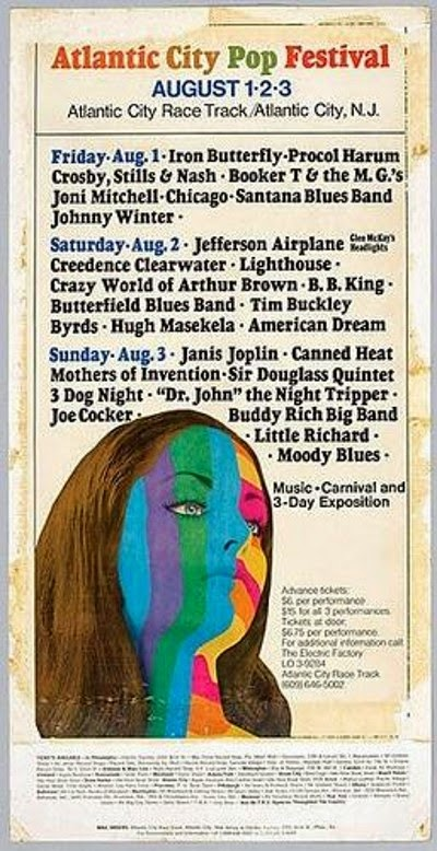 A poster from the 1969 Atlantic City Pop Festival