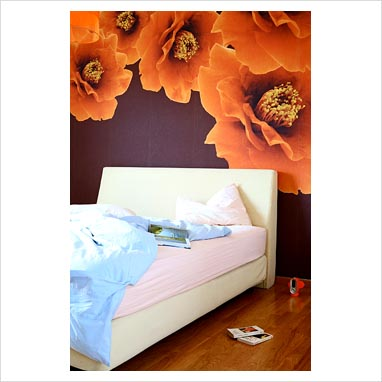 DECORAR CON PAPEL TAPIZ FLOREADO FLOWERING WALLPAPER
