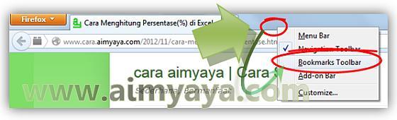 Gambar: Cara Menampilkan Toolbar Bookmark di Mozilla Firefox