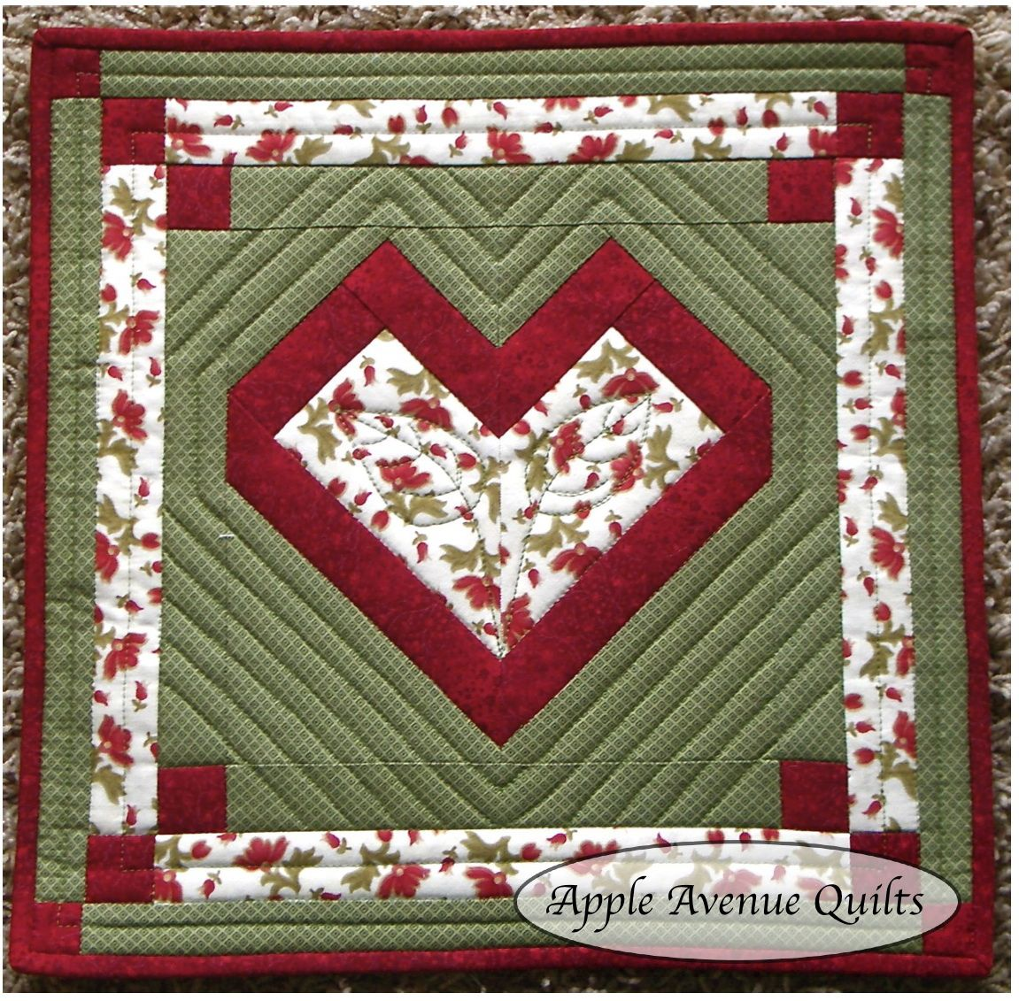 Quilt Patterns Block Of The Month : Apple Avenue Quilts: Free Block of the Month: February Blocks