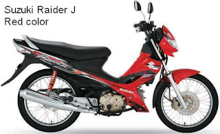 Suzuki Raider J red color