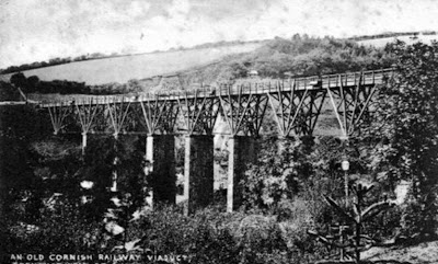 Cornish wooden fan viaduct from mid 1850s