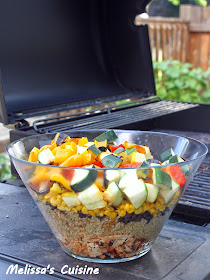 Melissa's Cuisine: Buffalo Chicken & Grilled Vegetable Quinoa Salad