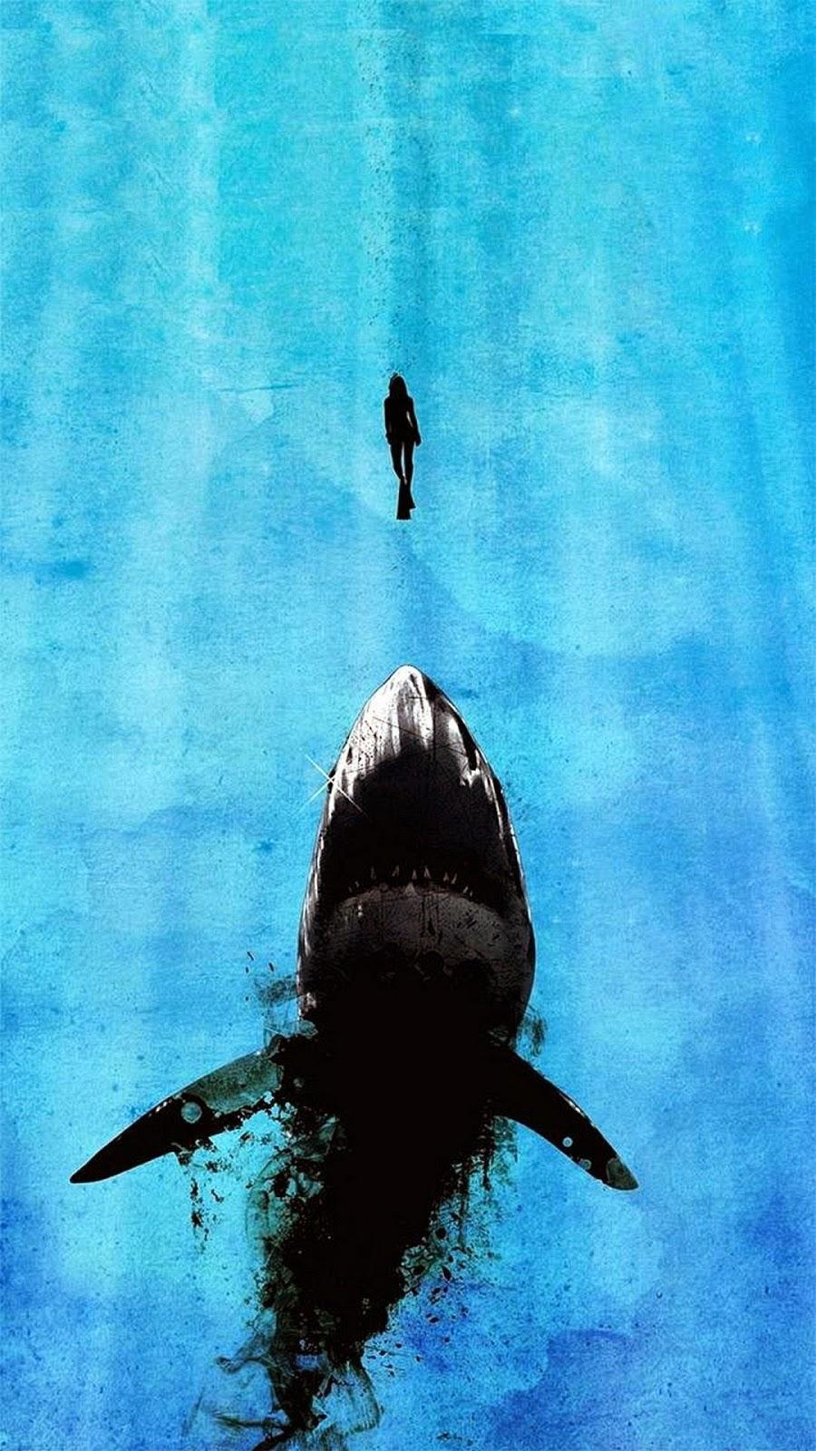 iPhone 6 Plus Shark Background