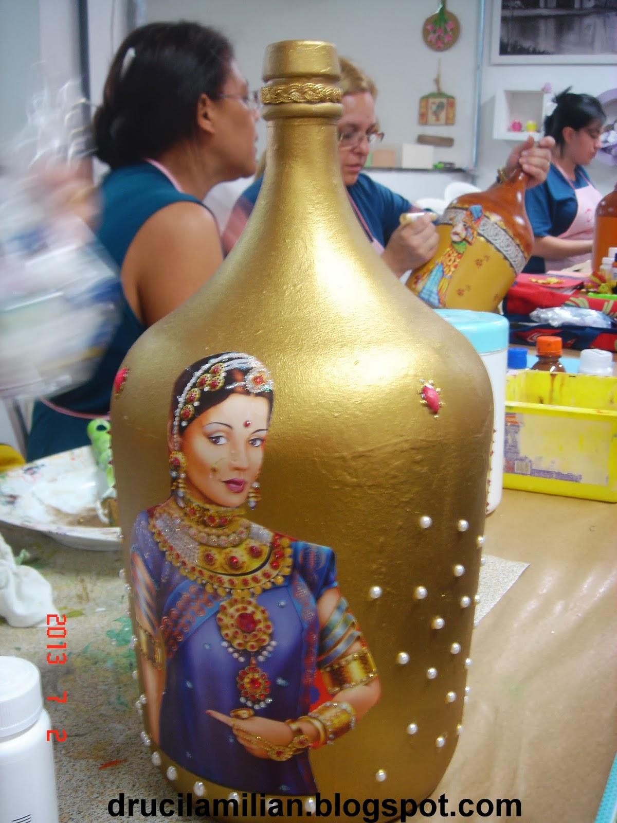 Artesanato Sao Carlos ~ Arteirices da Dru Garrafões de Vinho Reciclados Ideias