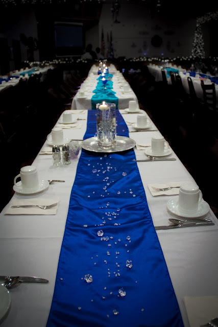 Blue And White Wedding Table Decorations