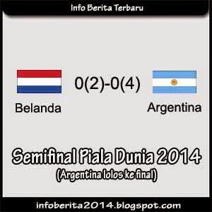 Hasil Pertandingan Belanda vs Argentina (2-4) Adu Pinalti