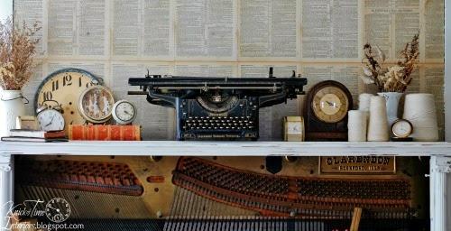 Repurposed Piano into a Desk by knickoftimeinteriors.blogspot.com