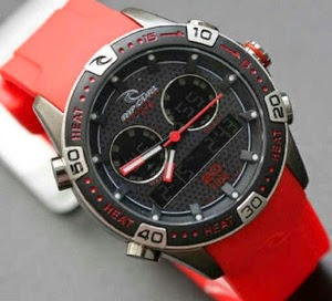 Jam Tangan Ripcurl Orbit Red Rubber