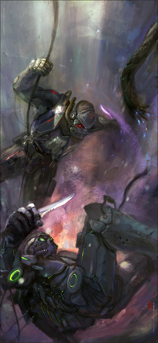 Starcraft 2: Ghost vs Spectre por Tabnir
