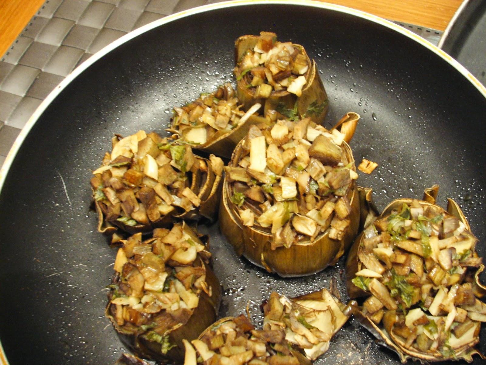 Cocinar sin sal alcachofas rellenas de su tallo sin sal - Cocinar sin sal ...