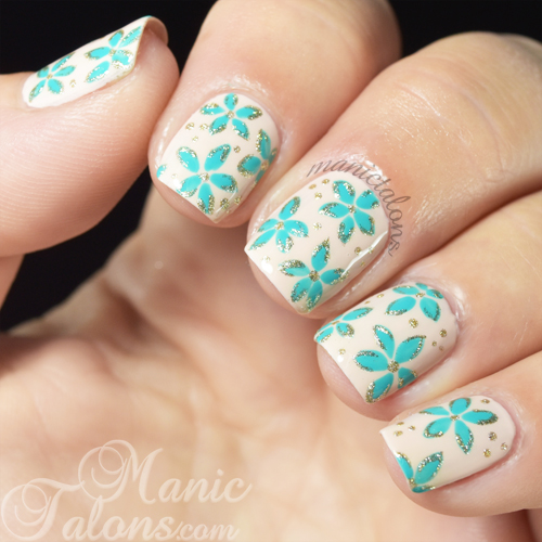 Akzentz Gel Play Nude with Floral Accents